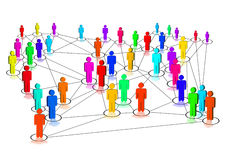 Network. Illustration of a social network vector illustration