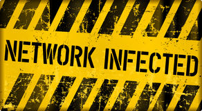 Network infection alert sign, vector Royalty Free Stock Images