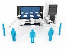 Network information sharing Stock Images