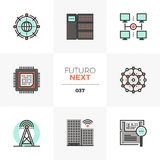 Network Infrastructure Futuro Next Icons royalty free illustration