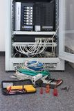 Network installation. In a data center Royalty Free Stock Photography