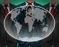 Network international worldwide business team vector Stock Images