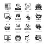 Network And Internet Black Icons Stock Photos