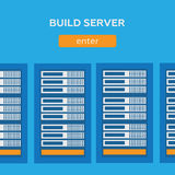 Network internet database build server Stock Photos