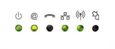 Network or internet icons Stock Image