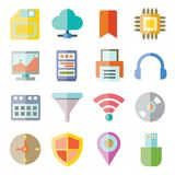 Network and internet icons Stock Photography