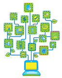 Network Internet Tree Royalty Free Stock Photos