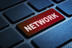 Network keyword on keyboard. Network keyword concept on computer keyboard technology background macro shot vector illustration
