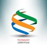 Network logo and technology concept design stock illustration