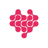 Network of love logo icon design Stock Photography