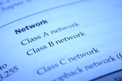 Network map Royalty Free Stock Photo