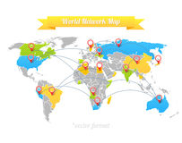 Network Map Royalty Free Stock Photos