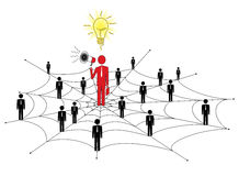 Network marketing royalty free illustration