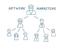 Network Marketing Illustration Stock Photo