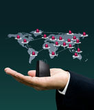 Network marketing, Technology concept Stock Images