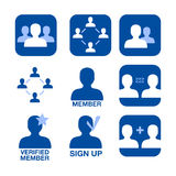 Network membership vector icons