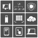 Network and Mobile Connections Icons Stock Photo