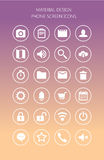 Network and mobile screen icons. Royalty Free Stock Photography