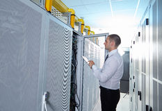 Network  modern server room Royalty Free Stock Images