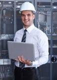 Network  modern server room Royalty Free Stock Image