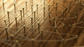 Free Network, Networking, Connect, Wire. Linking Entities. Network Of Gold Wires On Rustic Wood. Royalty Free Stock Image - 78015676