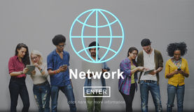 Network Networking Online Internet Homepage Concept Stock Photo
