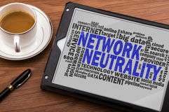 Network neutrality word cloud Royalty Free Stock Photo