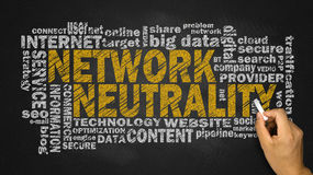 Network neutrality word cloud Royalty Free Stock Images