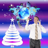 Network in New Year Holiday Stock Photo