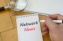 Network news concept on notebook Stock Images