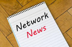 Network news concept on notebook Royalty Free Stock Photography