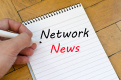 Network news concept on notebook Royalty Free Stock Images