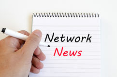 Network news concept on notebook Royalty Free Stock Image