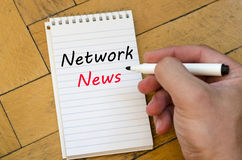 Network news concept on notebook Stock Photography