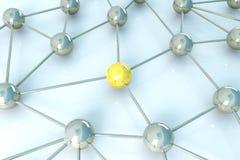 Network Node. 3D rendered Illustration.Network Node Royalty Free Stock Image