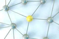Network Node. 3D rendered Illustration.Network Node Stock Image