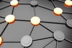 Network Nodes royalty free illustration