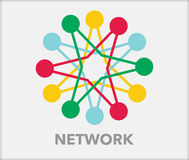 Network with nodes Royalty Free Stock Photos