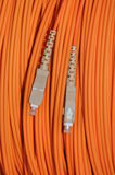 Network optical cable Stock Images