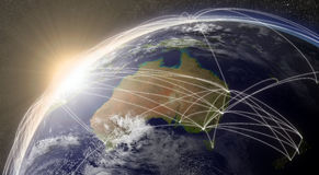 Network over Australia Stock Images