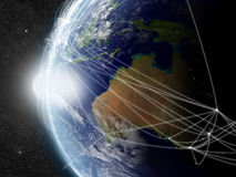 Network over Australia Stock Photo