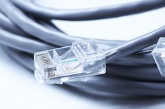 Network  and patch cables Royalty Free Stock Images
