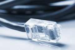 Network  and patch cables Stock Photos