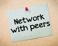 Network with peers Stock Image