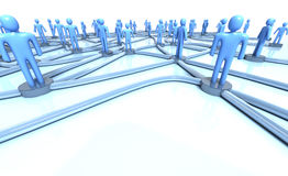 Network of people Royalty Free Stock Photos