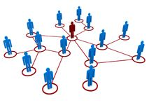 Network of people. A network of people in red and blue Stock Images