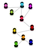 Network of people. Diagram on white Royalty Free Stock Image