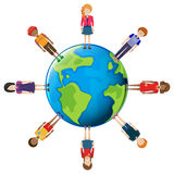 Network of people around the globe Royalty Free Stock Photo