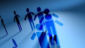 Network of People 3D Vector Animation stock video footage