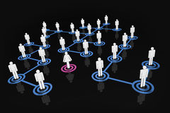 Network People - Man's World. A 3D rendered illustration of men social/business networks with one woman standing out from the crowd Royalty Free Stock Image